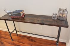steel pipe legs bar skinny bar table - Google Search