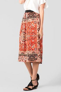 Cornelia Printed Midi Skirt