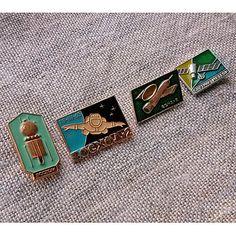 Vintage Space Pin Kosmos Badge Vostok Sputnik Meteor by MyWealth