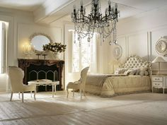 Even great chandeliers can pep up the mood of an otherwise beige and white colour decor, just as this one.