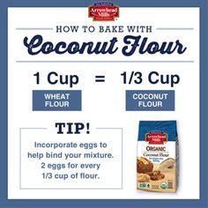 coconut flour conversion chart - Google Search