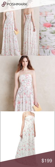 "Anthropologie Winter Rose Maxi Erin Fetherston A delicately riches gown with an ethereal floral print from designer Erin Fetherston. Polyester; spandex lining. Back zip. Regular falls 48"" from shoulder. ERIN by Erin Fetherston Dresses Maxi"