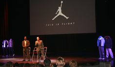 Chris Lindauer, President of Sports Career Consulting (SCC), addresses students attending the 5th Annual Jordan Brand Experience event at Nike's World Headquarters