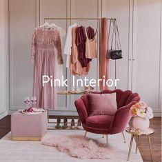 Pink kann cool, romantisch, elegant, girly oder glamourös sein und ist der ideale Farbton zum Dekorieren. Im Wohnzimmer sorgen pinke Accessoires oder Möbel in Rosa für das gewisse Etwas. Gemischt mit Grautönen schaffen sie eine wunderbare Atmosphäre. Unsere Lieblingsfarbe fürs Wohnzimmer? Ein zartes Altrosa! Für eine besonders kuschlige Atmosphäre wählt lieber zarte Nuancen in Rosé und Blush. Design Vase, Wardrobe Rack, Elegant, Girly, Curtains, Interior, Furniture, Home Decor, Ipad Air Case