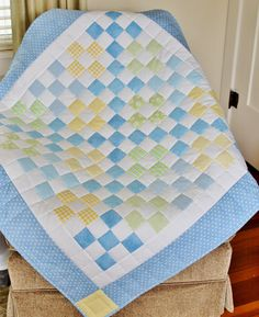 Baby quilt, donation for an adoption fund raiser. Made by Rhonda Byrd