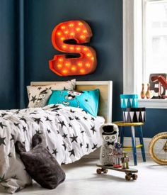 mommo design: OVER BED......Marquee letter