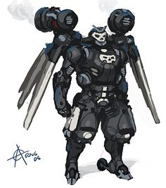 Sci Fi Armor Concept Art   These concepts are not super faithful. I've done some redesigning.