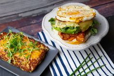 Keto Breakfast Sandwich (as featured on the cover of Newsweek!) Garlic Aioli Recipe, Garlic Recipes, Keto Recipes, Breakfast Calories, Low Carb Breakfast, Breakfast Sandwich Recipes, Wheat Free Recipes, Keto Snacks, Whole Food Recipes