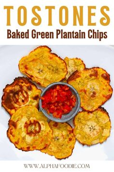 How to make tostones/patacones (fried green plantain) with an oven or air fryer - for healthier results that are still wonderfully crispy. These twice-baked air fryer tostones require just two ingredients, 30-40 minutes, and make for a delicious and crispy snack, appetizer, or side. Plus, this recipe is naturally gluten-free, paleo, and vegan!