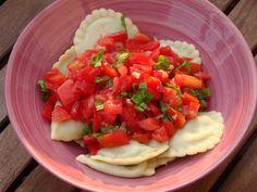 Gourmandises végétariennes: Pasta mit Tomatensalatsauce