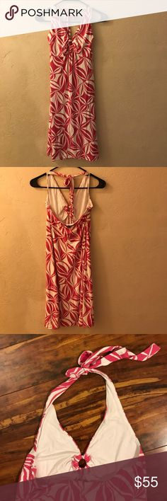"""Tommy Bahama printed sundress Beautiful printed sundress by Tommy Bahama. Never worn. Ties behind neck. Elastic across top back and under bust. Under bust to hem: 26"""". Tommy Bahama Dresses Midi"""
