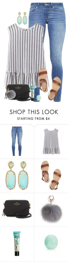 """""""*bling* *bling* *bling*"""" by simplysarahkate ❤ liked on Polyvore featuring Abercrombie & Fitch, Kendra Scott, Ancient Greek Sandals, Kate Spade and Eos"""