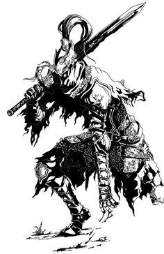 Artorias by MonsterWhacker on DeviantArt Fantasy Words, Fantasy Art, Imagenes Dark, Dibujos Dark, Supernatural Angels, Kratos God Of War, Bloodborne Art, Action Pose Reference, Dark Souls Art