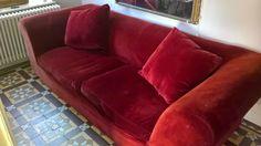 Habitat Louis sofa - Red RRP £1800 !   eBay