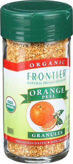 Frontier Herb Orange Peel - Organic - Granules - 1.92 Oz
