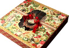 graphic 45 - 12 days of christmas card box - by Gloria Stengel - (image 2 of 2)