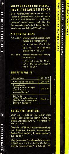 Berlin - Interbau 1957 - Prospekt Rückseite