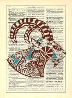 Capricorn Astrology Zodiac Goat Repurposed by StayGoldMedia