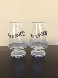 Vintage The Pussycat Set Of Two Glasses Atomic Cocktails