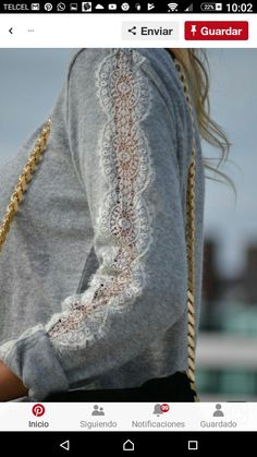 Sewing Clothes Lace Ideas Ideas For 2019 - Upcycle clothes - Fashion Details, Diy Fashion, Ideias Fashion, Fashion Clothes, Latest Fashion, Fashion Trends, Diy Clothing, Sewing Clothes, Recycled Clothing