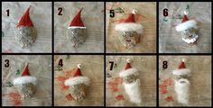 milkweed pods crafts for christmas | Milkweed Pod Santa craft! What a cool idea for ... | Amazing Monarch ...