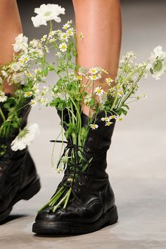 flowers in you hair and in your boots...
