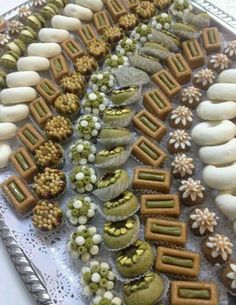 Mini Desserts, Cookie Desserts, Cookie Recipes, Dessert Recipes, Eid Sweets, Arabic Sweets, Turkish Sweets, Indian Sweets, Moroccan Desserts