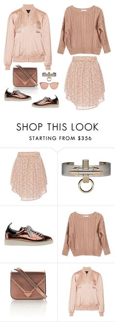 """""""Obsessed: Copper & Blush"""" by musicfriend1 ❤ liked on Polyvore featuring Marissa Webb, Givenchy, Golden Goose, Ryan Roche, Alexander Wang, Linda Farrow, obsessed, blushtones and coppertones"""