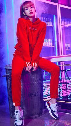 Lisa Ver — Adidas Korea New Falcon Campaign - Lisa Blackpink Kim Jennie, Blackpink Lisa, Black Pink Lalisa Manoban, Kpop Girl Groups, Kpop Girls, Forever Young, Lisa Blackpink Wallpaper, Ft Tumblr, Blackpink Photos
