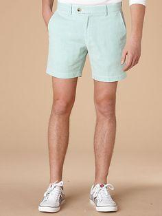 men's green seersucker shorts