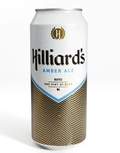 Seattle's brand spanking new Hilliard's Beer, recently began production of these vintage-y 16oz cans