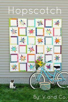 Hopscotch Quilt Pattern by V anc Co. - Print Pattern. $9.00, via Etsy.