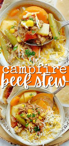 Campfire Beef Stew | Foodtastic Mom #ad #ohbeef #beefrecipes #beefstew Quick Beef Recipes, Grilling Recipes, Quick Meals, Slow Cooker Recipes, Healthy Recipes, Chili Recipes, Healthy Food, Fall Dinner Recipes, Winter Recipes