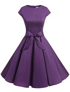 - Fabric: 90% Cotton, 10% Elastane - Please Refer To Our Size Chart Left Before Purchasing. - Full circle flared skirt, classic Audrey Hepburn dresses - The Dress Can Be Matched Underskirt Or Petticoat,Will Be More Elegant,Our Dressystar Petticoat is A Good Chioce. - Occasions:Rockabilly Pinup Wedding Prom Party,40s 50s punk swing polka prom,lolita costume cosplay club wear.