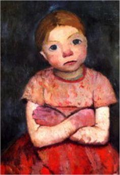 Paula Modersohn-Becker - Sitzendes Madchen mit verschrankten Armen, 1903