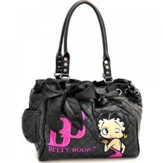 HANDBAG Betty Boop Scarf Accent Quilted Shoulder Bag