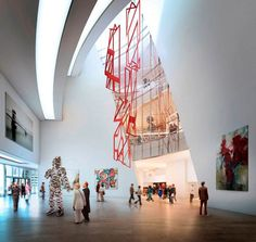 By world-renowned architect daniel libeskind design of the new Museum of Contemporary Art program has now been officially approved as the Milan, Italy, Daniel Libeskind, Museum Architecture, Art And Architecture, Chinese Architecture, Futuristic Architecture, Milan Museum, Atrium Design, Lobby Design, Museum Plan