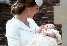 Charlotte could be heard crying as they approached the church door with Kate having to pic...