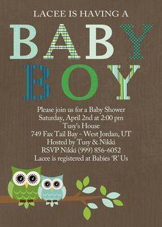 Baby shower baby boy shower baby girl shower invite baby shower invitation