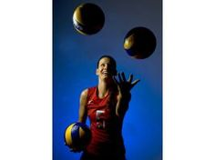 Stacy Sykora: on 3 U.S. Olympic volleyball teams. Had to relearn how to walk after a bad bus crash. Now ready for her 4th Olympics!