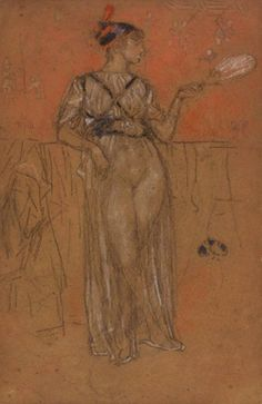 James McNeill Whistler, 'Black and Red: The Egyptian', c. James Mcneill Whistler, Worlds Largest, Printmaking, Egyptian, Art Drawings, Statue, Red, Painting, Black