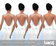 Nolan Sims here. After seeing this post by I felt it was necessary to make more wedding dresses! And this time around, I tried my hand at Maxis-Match content! Hoping to stick to this style. Sims 4 Wedding Dress, Wedding Dresses, Sims 4 Update, Ts4 Cc, Maxis, Female, Formal Dresses, Content, Style