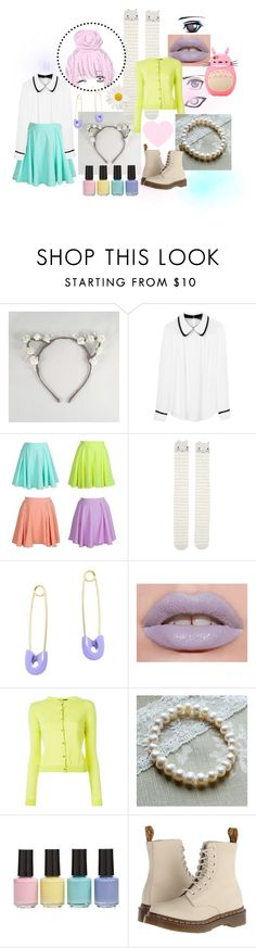 """Untitled #86"" by queen-of-the-llamas ❤ liked on Polyvore featuring Tara Jarmon, Accessorize, Kristin Cavallari, Lime Crime, Boutique Moschino, BP. and Dr. Martens"
