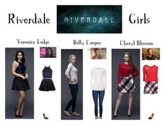"""Riverdale Girls"" by livelifeloud24 on Polyvore featuring Chicwish, Topshop, River Island, Dorothy Perkins, Naturalizer, Barneys New York, Nine West, Saks Fifth Avenue and riverdale"