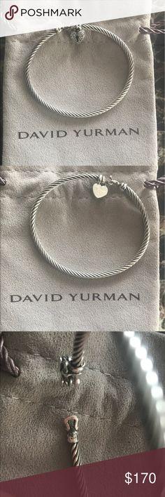 Authentic David Yurman Cable Heart Bracelet Gently used, comes with David Yurman Bag David Yurman Jewelry Bracelets