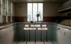 Echoes of Voices in the High Towers exhibition-Robert Montgomery  --via Marion Lapin