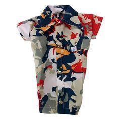 Camisa para Cachorro Verão Florido Vermelha e Branca Pickorruchos - MeuAmigoPet.com.br #petshop #cachorro #cão #meuamigopet