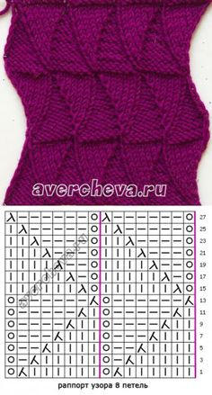 Baby Knitting Patterns Cowl Pattern 657 'two-sided pattern for the back' Lace Knitting Patterns, Knitting Stiches, Knitting Charts, Easy Knitting, Loom Knitting, Crochet Stitches, How To Purl Knit, Pulls, Needlepoint
