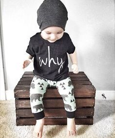 Why Kids tee - Little Beans Clothing @bittybdesign hipster baby, baby leggings, baby beanie, kids fashion.