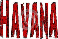 Havana text sign illustration